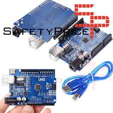 UNO R3 ATmega328 CH340 100% Compatible con Arduino + pines + CABLE USB INCLUIDO