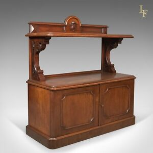 Antique Buffet, Scottish Server Cabinet, Mahogany, Mid Victorian c.1870