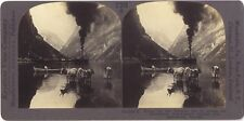 Nærøyfjord Norvège Norway Photo Stereo Stereoview Papier Citrate Vintage