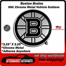 Boston Bruins NHL Chrome Metal Car Auto Emblem Team Decal Logo Ships Fast