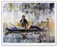 Affiche Hugo Pratt Corto Maltesse Pirogue 40x50 cm