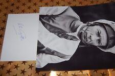 LESTER PIGGOTT  SIGNED WHITE CARD WITH 10X8 PHOTO 3