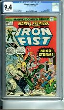MARVEL PREMIERE 25 CGC 9.4 WHITE PAGES 1st JOHN BYRNE IRON FIST 10/75 Marvel