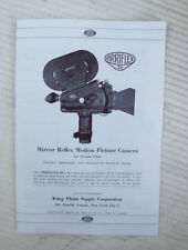 1940's AIRRIFLEX 35mm & 16mm MOVIE CAMERA 8 PAGE BROCHURE - REPRODUCTION