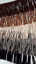 Restposten Leder Fransenborte, 5 Farben je 20-25cm, kunst Wildleder