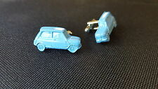 Morris Mini Cooper MK1 Car Novelty Blue Cufflinks Wedding Occasion ref144