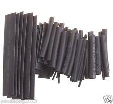 370PCS Size Black Color  Heat Shrinkable Tube Sleeving Wrap Wire Kit 2:1
