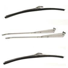 1967 F-Body Coupe Correct Windshield Wiper Arm & Blade Kit - Bright Chrome