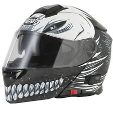 VCAN V271 Full Face Bluetooth 5 Motorcycle Helmet - Hollow / Matt Black XL