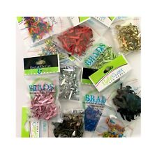 Craft Brads by Eyelet Outlet for paper crafts & cardmaking, 4mm,8mm,Mix,round