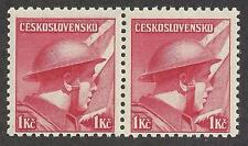 Czechoslovakia Czech 1945 Sc# 280 Captain Ridky British army Soldier pair MNH
