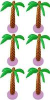 6 x Inflatable Palm Coconut Tree 90cm Hawaiian Beach Garden Party Decoration 028