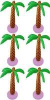 6 X Gonfiabile Palma Cocco Albero 90cm Hawaiano Spiaggia Giardino Addobbi 028
