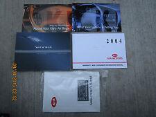 2004 - 04 KIA SEDONA USER OWNER MANUAL HANDBOOK GUIDE INFORMATION BOOK
