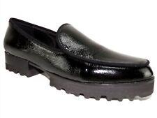 Donald J. Pliner Women's Elen Loafers Black Metallic Leather Size 8 M