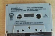 Jim Reeves, Twelve Songs of Christmas Cassette Tape album (missing inlay)