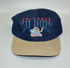Columbus Blue Jackets Nhl Vintage Twins Enterprise Men's Strapback Cap Hat - Nwt