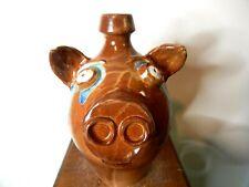 randy paul tobias face jugs, pottery, folk art    ( pig jug 11'' x 7'' )