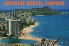 Waikiki Beach, Honolulu Hawaii, Hilton Hotel HI Village Rainbow Tower - Postcard