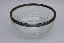 Kristall-Schüssel mit Silberrand moderner Dekor