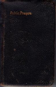 ANTIQUE BOOK OF PUBLIC PRAYERS - c1880-90s - GOOD ORDER