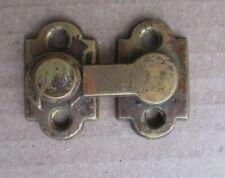 ANTIQUE CAST BRASS INTERIOR SHUTTER LATCH CUPBOARD DOOR LATCH HARDWARE CATCH
