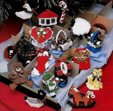 CHRISTMAS DECOR - MINI ORNAMENTS  FOR TREES OR TIE-0NS - PLASTIC CANVAS PATTERNS