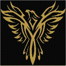 Cross Stitch Chart Eagle (11) Aida Needlework Picture Craft