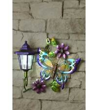 Solar Powered Butterfly Wall Plaque Great Item A Must Have For The Summer Great