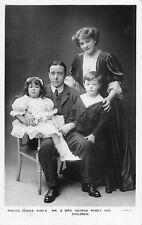 POSTCARD  ACTORS MR & MRS GEORGE ROBEY & CHILDREN