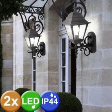 2er Set LED Außen Leuchten ALU Laternen Wand Glas Garten Lampen SAMSUNG CHIP