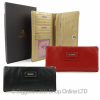 Top Quality Large LADIES LEATHER CASHMERE PURSE WALLET Visconti Gift Boxed New