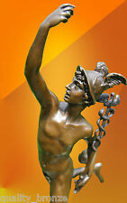 BRONZE STATUE MERCURY HERMES NUDE ART FIGURE JIMMY GREEK MYTHOLOGY HOT CAST