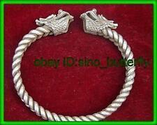 TIBET JEWELRY MIAO SILVER DRAGON HEAD men's bracelet