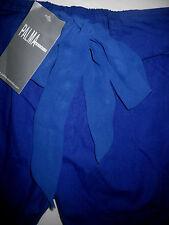 Women 8 Cobalt Blue High Waist Pleat Panel Chiffon Tie Shorts Palma Australia