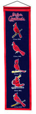 "St Louis Cardinals 32"" Embroidered Genuine Wool Heritage Banner NWT MLB"