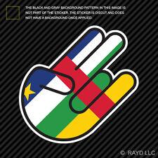 Central African Republic Shocker Sticker Decal Self Adhesive Vinyl CAR CF CAF