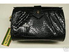 BLACK LADIES HANDBAG small SIZE with shoulder strap Stamped design NEW