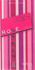 Etiquette de vin - OC & CO - Rosé Syrah - 2010
