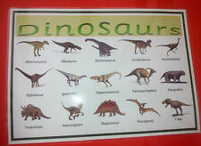 Dinosauri-A4 stratificato POSTER-Display-CLASSE / home / childminder / Hobby