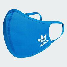 1 Adidas Face Mask Cover Blue Adult Size Medium / Large ✔Ships Same Day Free!!