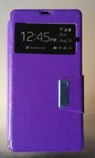 Funda modelo libro tapa imán morada L36H Xperia Z lote 4 unidades