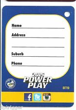 2015 NRL Power Play BAG TAGS (BT9) Eels