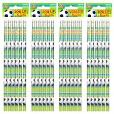 24 x Pack of 6 Football Design Pencil Kids Party Bags Filler Christmas Bulk Buy