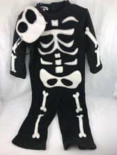 Pottery Barn Teen Kids Skeleton Costume Size 7-8 years Glow In The Dark ~new