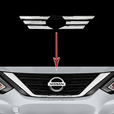 2016 17 18 Nissan Altima CHROME Grille Overlays Front Grill Vent Bar Trim Covers