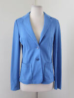 NWT New Talbots Solid Blue Blazer Jacket Cotton Blend Size XS Career