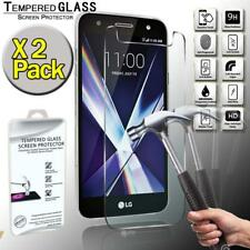 2 Pack Tempered Glass Screen Protector Cover For LG X Charge
