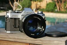 Canon AE-1 35mm SLR Film Camera with 90mm F2.5 Lens Kit