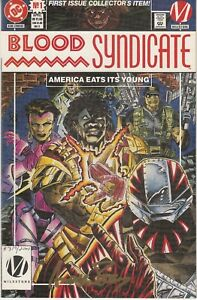(1993, DC) BLOOD SYNDICATE #1 Signed by Andrew Pepoy w/ COA VF